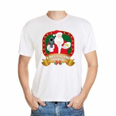 Foute kerst shirt wit x-mas is fucking expensive voor heren