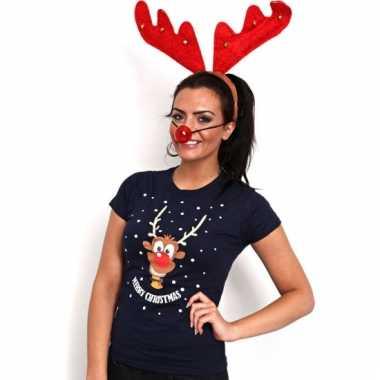 Foute kerst t-shirt met rendier