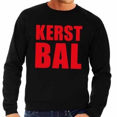 Foute kerstborrel trui zwart kerstbal heren