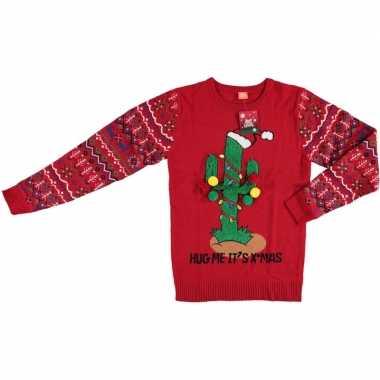 Foute kersttrui kerstcactus voor dames en heren