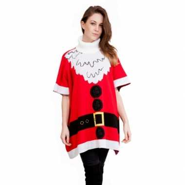 Foute Kersttrui Jurk.Foute Kersttrui Kerstman Poncho Kerst Man Nl