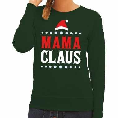 Foute kersttrui mama claus groen voor dames / moeders