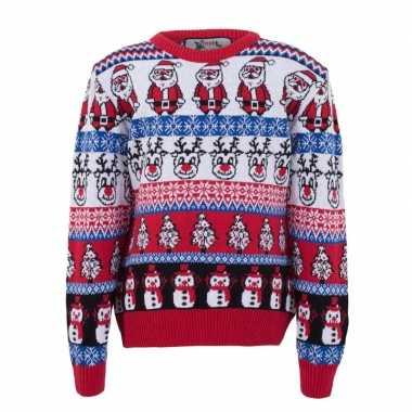 Foute kersttrui nordic print voor volwassenen