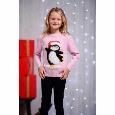 Foute kersttrui pinguin voor kids