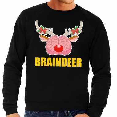 Foute kersttrui / sweater braindeer zwart voor heren