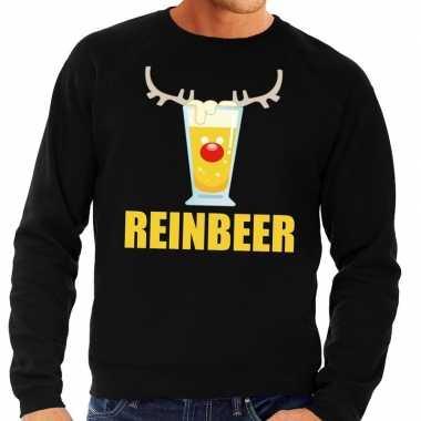 Foute kersttrui zwart met biertje heren