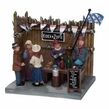 Friese steden kerstdorp accessoire koek en zopie kraam