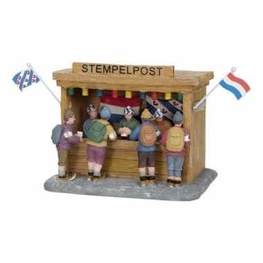 Friese steden kerstdorp accessoire stempelpost