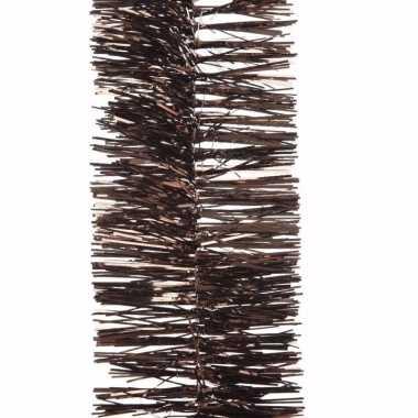 Glamour christmas kerstboom decoratie slinger bruin 270 cm