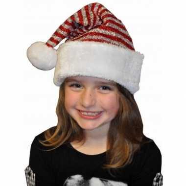 Glitter kerstmuts voor kinderen