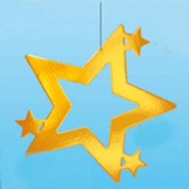 Gouden decoratie kerstster 68 cm