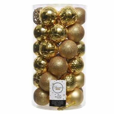 Gouden kerstballen set 36 stuks