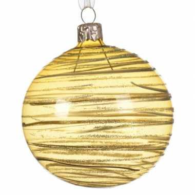 Gouden Kerstballen Transparant 8 Cm Kerst Man Nl
