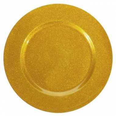 Gouden kerstbord 33 cm