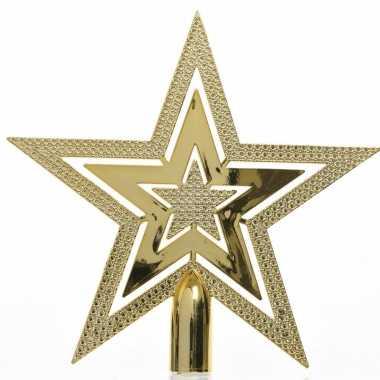 Gouden kerstversiering piek 20 cm