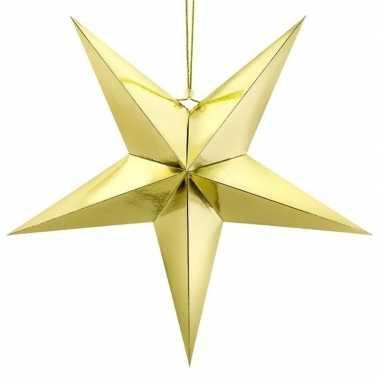 Gouden sterren kerstdecoratie 70 cm
