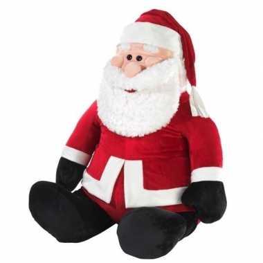 Grote kerstman knuffel 100 cm