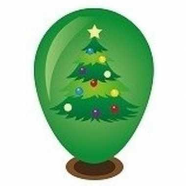 Hobby ballon versieren kerstboompje 27 cm