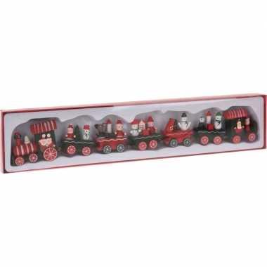 Houten kersttrein 41 cm