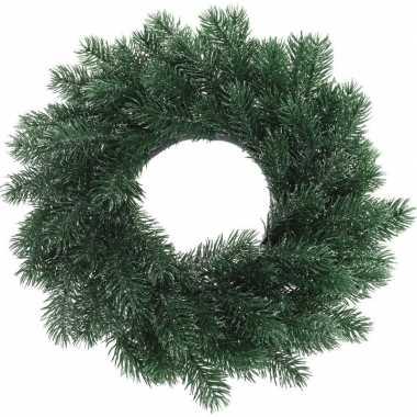 Kerst decoratie blauwgroene kerstkrans 35 cm