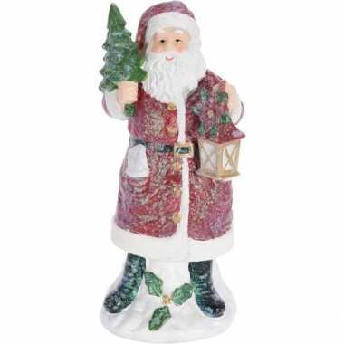 Kerst decoratie kerstmannen beeldje 27 cm