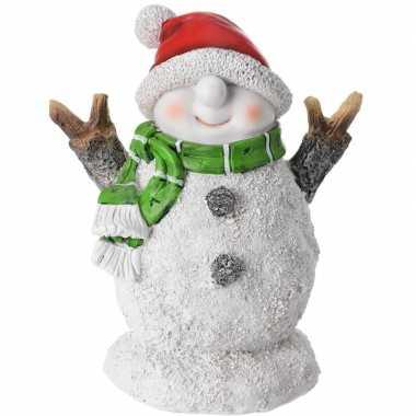 Kerst decoratie sneeuwpoppen beeldje 10 cm