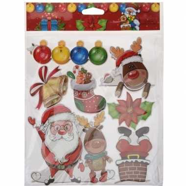 Kerst decoratie stickers 3d type 2
