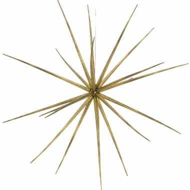 Kerst decoratie versiering gouden ster kunststof 17 cm