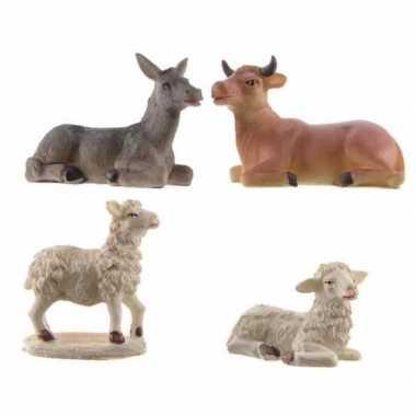 Kerst dierenbeeldjes van polystone 9 cm