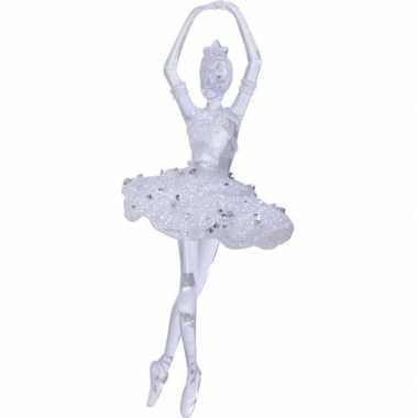 Kerst hangdecoratie doorzichtige balletdanseres 17 4 cm