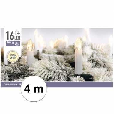 Kerst kaarsen lampjes warm 4 meter binnen kerstverlichting