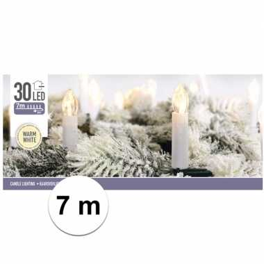 Kerst kaarsen lampjes warm 7 meter binnen kerstverlichting