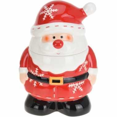 Kerst koekpot met kerstman 23 x 15 cm