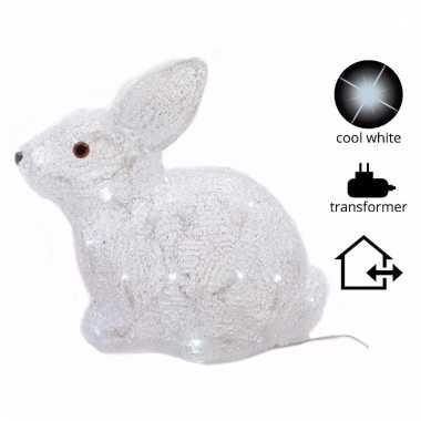 Kerst konijn met led verlichting 30 cm