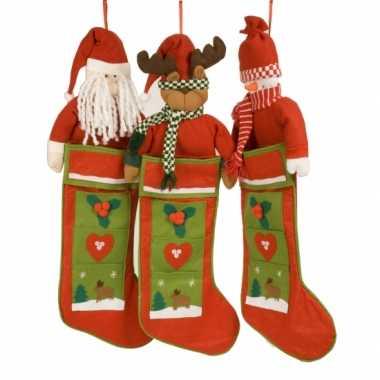 Kerst kous met rendier