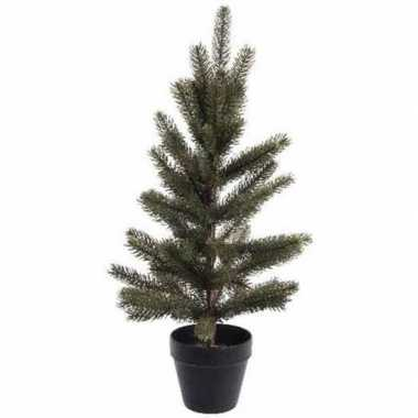 Kerst kunstboom groen in pot 60 cm