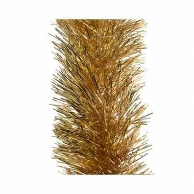 Kerst lametta guirlande goud 10 x 270 cm kerstboom versiering/decorat