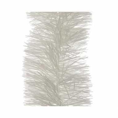 Kerst lametta guirlande winter wit 10 x 270 cm kerstboom versiering/d