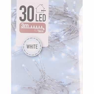 Kerst lampjes helder wit op batterijen 2 meter indoor