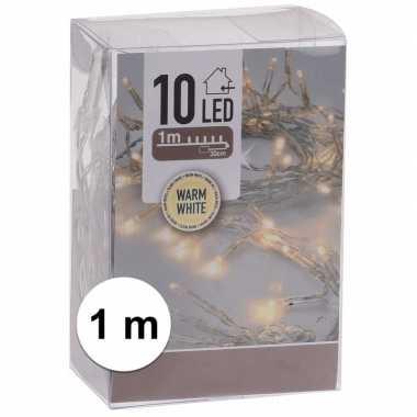 Kerst lampjes warm wit op batterijen 1 meter indoor