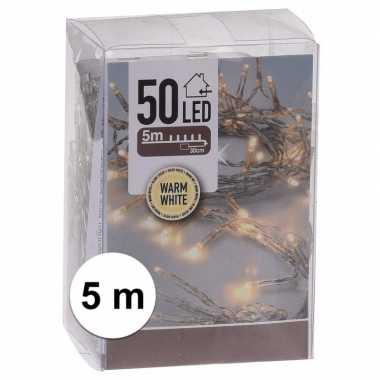 Kerst lampjes warm wit op batterijen 5 meter indoor