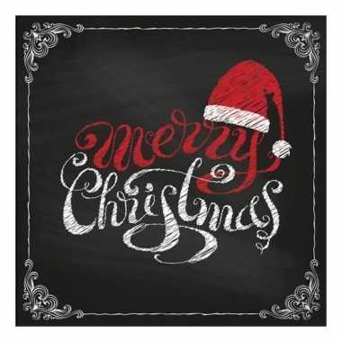 Kerst servetten merry christmas 20 stuks