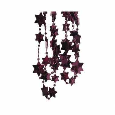 Kerst sterren kralen guirlande aubergine paars 270 cm kerstboom versi