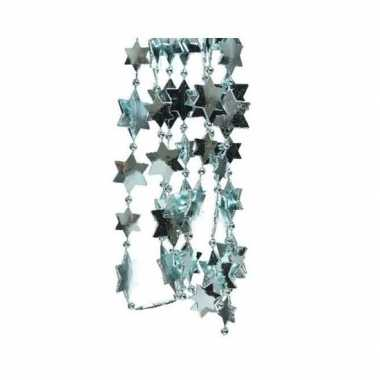 Kerst sterren kralen guirlande ijsblauw 270 cm kerstboom versiering/d
