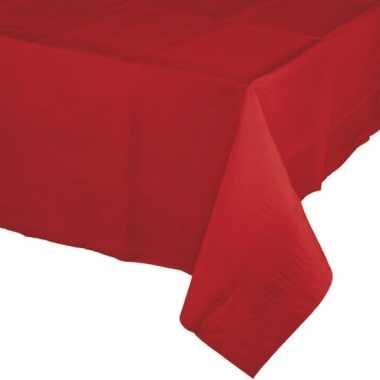 Kerst tafeldecoratie rode tafelkleden 274 x 137 rechthoekig van papie