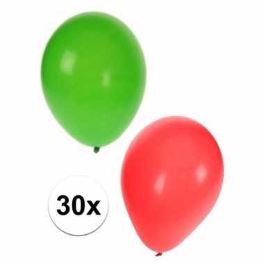 Kerst thema ballonnen pakket 30 stuks
