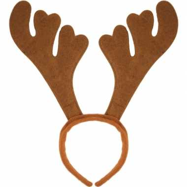 Kerst verkleedaccessoire bruin rendieren gewei voor volwassenen