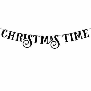 Kerst versiering banner christmas time