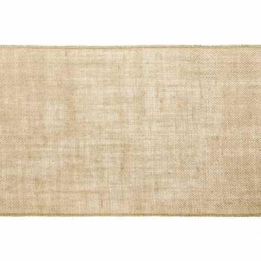 Kerst versiering jute tafelloper/placemats 28 x 500 cm