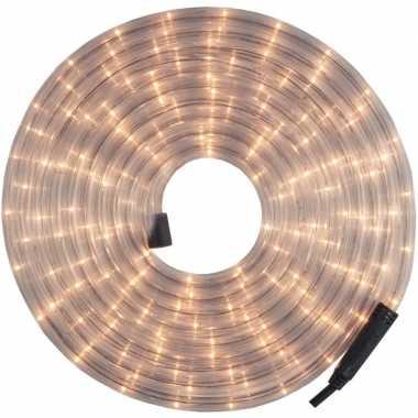 Kerst versiering led lichtsnoer/verlichting wit 12 meter buiten/outdo
